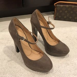Brown Suede ZARA Heels